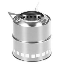 New Outdoor Windproof Cooking Picnic Stainless Steel Wood Burning Camping Stove