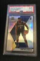 2019-20 Panini Mosaic Silver Prizm #209 Zion Williamson RC Rookie PSA 9 POP 143!