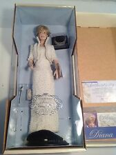 FRANKLIN MINT DIANA, PRINCESS OF WALES, PORCELAIN PORTRAIT DOLL, NIB Mint