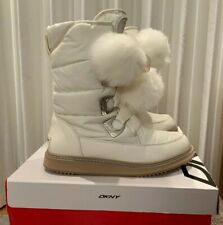 BNWT DKNY White Boots Snow Boots Net A Porter Size UK6.5