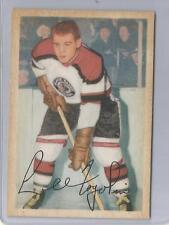 1953-54 Parkhurst Hockey Lee Fogolin Card # 72 Excellent Condition