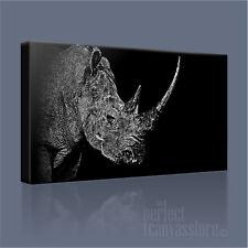 Rhino superba collezione di fauna selvatica iconica foto su tela LAPopArt STAMPA ARTE Williams