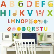 A-Z Alphabet Letters Words Wall Sticker Kids Learning Educational Room Decor Q