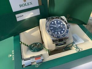 ROLEX GMT MASTER 2 -  11 -  116710LN  COMPLETE SET, BOXED AND PAPERS 2017