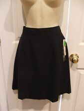 NWT $42  versatile business classic black  skirt made in USA sz 10