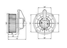 HVAC Blower Motor Front TYC 700201