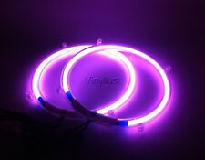 8 Inch Purple Neon Speaker Rings Subwoofer Glow Car Lighting Kit (Set) w Toggle