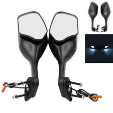 Black Rear View Mirrors + LED Turn Signal Light For Honda CBR1000RR 2008-2012