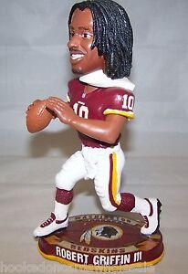 2012 Robert Griffin III Washington Redskins ROOKIE YEAR Bobblehead Doll Limited
