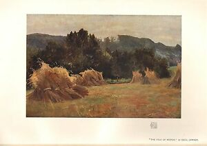 1904 VICTORIAN STUDIO PRINT ~ THE VALE OF MEIFOD by CECIL LAWSON