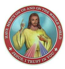 """Jesus I Trust in You Sacred Heart 6"""" Auto Magnet Religious Decal Car Decoration"""