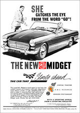 MG MIDGET RETRO POSTER A3 PRINT FROM CLASSIC 60'S ADVERT