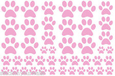 SOFT PINK PAW PRINTS-2 sheets total 44 pieces VINYL WALL DECAL STICKER DOG CAT