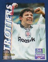 BOLTON WANDERERS HOME PROGRAMMES 1996-1997