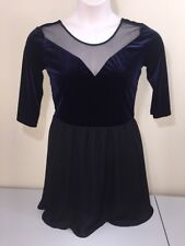 DIVIDED by H&M FORMAL COCKTAIL VELVET SHEER EVENING TUNIC DRESS SIZE 10