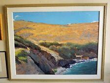 "Huge Original Oil on Pastel- Macario Pascual ""Blue Sky"" Painting (Maui, Pali)"