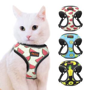 Pet Kitten Cat Adjustable Walking Jacket Harness Reflective Soft Mesh Dog Vest
