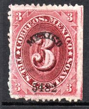 Mexico 1882 Foreign Mail Small Numeral 3¢ Carmine Lake Mexico MX115