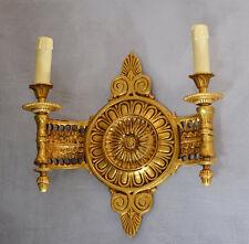 Bronze Louis Style Lampe Applique Ancienne Luminaires Chandelier Double Retro