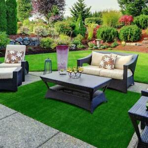 Green Artificial Grass Rug 6 ft. x 8 ft. Patio Deck Indoor Outdoor Landscape