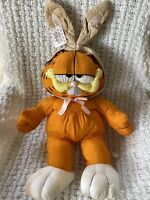 """Vintage Cast of Characters Garfield Easter Bunny 1990 with Tags 30"""""""
