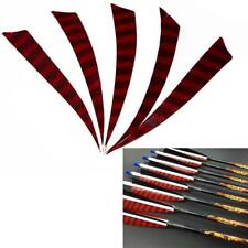 50X 5'' Archery Right Turkey Arrow Feathers Fletching Striped Shield Wings Bow