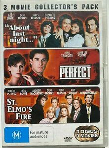 ABOUT LAST NIGHT, PERFECT, ST.ELMO'S FIRE DVD (PAL, 2006) Free Post