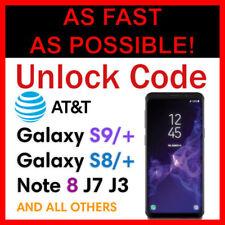 UNLOCK CODE SERVICE AT&T SAMSUNG GALAXY S9 S9+ PLUS S8 S8+ NOTE 8 J7 J3 A8 ATT