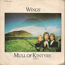 "45 TOURS / 7"" SINGLE--WINGS (MC.CARTNEY)--MULL OF KYNTYRE / GIRLS SCHOOL--1977"