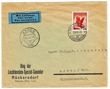 Liechtenstein Sc#C10(single frank)-TRIESENBERG 24/VI/35-AIR MAIL to