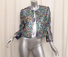 MOSCHINO COUTURE Womens JEREMY SCOTT Cola Soda Can TABS Silk Jacket 44/8 $2K NEW