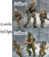 1/35 Resin Zombie War 2 Stalkers Biochemical Soldiers Unpainted Unbuild BL479