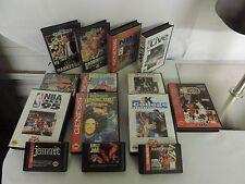 Sega Genesis Lot of 14 games Basketball Barkley Robinson NBA Jammi Wholesale Lot