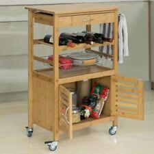Sobuy Carrello di Servizio Scaffale da cucina Bambù Fkw53-n IT