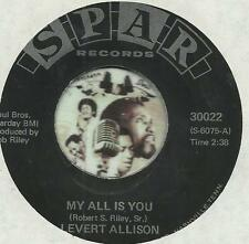 LEVERT ALLISON MY ALL IS YOU DEEP RARE SOUL R&B 45 RPM RECORD