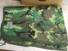 USGI US Military Wet Weather Poncho Liner Blanket Woobie Woodland Camo NEW IRR