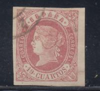 ESPAÑA (1862) USADO SPAIN - EDIFIL 60 (19 cu) ISABEL II