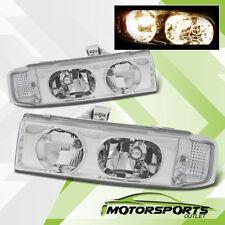 For 1995-2005 Chevy Astro Van/GMC Safari Van Chrome Headlights Head Lamps Pair