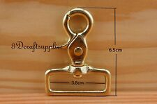 Lobster Clasps Clips Claw purse hooks Swivel snap hook solid brass 38 mm K84