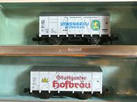 2 Güterwagen Löwenbräu Stuttgarter Hofbräu Roco 2321 D 2323 B OVP (NNO)