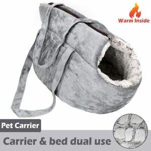 Dog Carrier Bag Warm Soft Plush Backpack Small Pets Handbag Puppy Traveling Tool