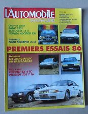 L AUTOMOBILE MAGAZINE - N° 475 - JANVIER 1986 *