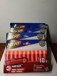 Nerf Mega Power Dart Refills 10 Pack New Sealed 5 packs included 50 Darts
