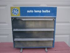 Vintage GE Auto Lamp Bulbs Light Bulb Display Cabinet Rack Full Of Vintage Bulbs