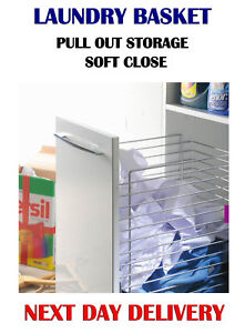 SOFT CLOSE, PULL OUT STORAGE / LAUNDRY BASKET, KITCHEN / 300,400,500 mm W-2316