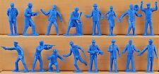 Marx Recast 54mm Untouchables- 25 in 16 poses - 1990s production - blue color