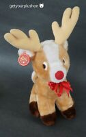 RUSS VINTAGE MUSICAL RUDOLPH THE RED-NOSED REINDEER PLUSH WITH WAGGLY HEAD