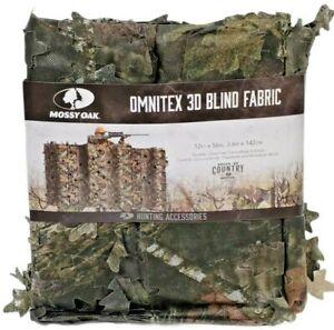 "Camouflage Hunt Blind Fabric 3D Omnitex Leafy Mossy Oak Break-Up Country 12'X56"""