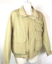 Woolrich Men's Med Khaki Plaid Wool Lined Parka Barn Coat Jacket USA-Made