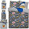 Disney Donald Duck Graphic Reversible Duvet Quilt Cover Bedding Set New